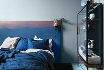Industrial feel bedroom