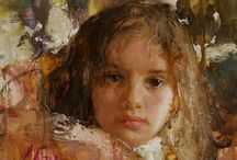 Children, Living Artists, Classical Realism, Paintings & Drawings / by Ted Reed