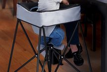 """DinePod Portable High Chair / Meal time or family fun time, bring baby to the table with the new KidCo DinePod portable high chair. Sets up instantly, light weight at just over 5 pounds the DinePod is a parent """"must have.""""  Use indoors and outdoors.  Includes carry/storage bag.  Available December 2015"""