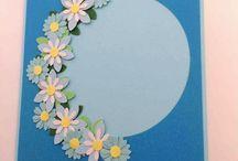Blomsterkort - blomsterinvitationer / Dobbelte blomsterkort i smukke farver. Kort og invitationer til konfirmation, bryllup, fødselsdag og en blomsterhilsen. Handmade Flower cards.