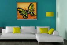 art | paintings of butterflies / freedom is essential - the butterfly symbolizes the immortal human soul