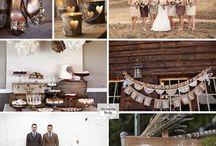 Neutral  & Brown Kraft Wedding Ideas / Beautiful Neutral Brown Kraft Wedding ideas! Stop by www.KraftOutlet.com for all your Kraft Paper needs.