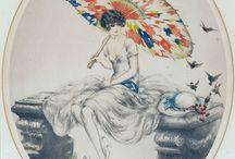 LOUIS ICART / Το ψευδώνυμο του Louis Icart ήταν Helli που προέρχεται από τα αρχικά του L.I. Ο Louis Icart [1890-1950] ήταν γάλλος ζωγράφος και σχεδιαστής της τέχνης Deco. Ο Icart γεννήθηκε το 1890 στην Τουλούζη και πέθανε στο Παρίσι το 1950. Είναι γνωστός ως καλλιτέχνης στη Νέα Υόρκη τη δεκαετία του 1920.Το πιο χαρακτηριστικό θέμα του ήταν οι γλαούρες γυναίκες. Κατά τη διάρκεια της καριέρας του, δημιούργησε έργα ζωγραφικής, λιθογραφίες, χαρακτικά, παστέλ, διαφημίσεις, αφίσες, εικονογραφήσεις βιβλίων και άλλα.