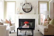 Living room fireplace and built ins.