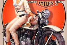 Sexy Vintage Bike Ad's / A collection of some sexy vintage bike Ad's that i want for my workshop