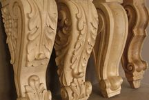 CARVED ELEMENTS / Wooden Carvings from Furniture Parts to Architectural Elements such as – corbels, columns, arches, bases, panels, cabinet doors, interior and exterior doors. Furniture Parts – feet, legs, drawers, ornamental elements, tabletops, carved edges. Mantles, shelves, frames, etc.