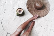 b e a c h please / sunny south with sexy, salty, sunkissed skin | bare legs | naked booties | messy buns & bikinis