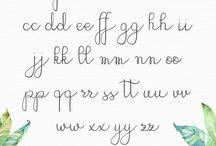 Lettering & Handwriting ideas