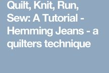 Sewing / Hemming jeans