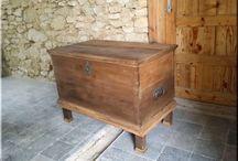 Bútorok, hálószoba / Antik, industrial loft, vintage stílusú fa és vas berendezési tárgyak