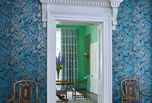 Peacock design wallpaper