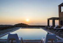 Villa Levanda #Kea #Greece #Island / 9 GUESTS, 4 BEDROOMS The villa stands in a terrain of about 2500 square meters with oak trees. It offers a magnificent 180 degrees south-west-north view, over Cape Sounion, the island of Makronissos, the port of Kea and the island of Eyvoia. A hill with a small-whitewashed church adds a romantic touch to the landscape. The sunset view is breath-taking. #Luxury #Villa #ToRent