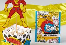 Party: Superhero / Party ideas for a superhero theme | DIY superhero games, printables, food, and decorations