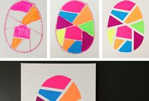 geometric easter egg art