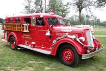 Vintage fire trucks / Vintage fire truck ideas for future replicas.