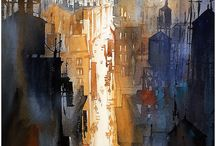 Aquarelle - cities