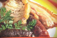 Receta de Parrillada de carne con salsa picante de tomate