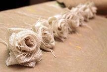 flores tecido rusticas