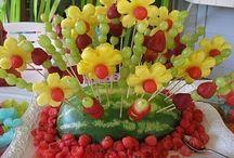 Figuras con frutas / Decoración