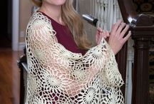 Beautiful Gorgeous scarfs, shawls and poncho's knitted & crocheted