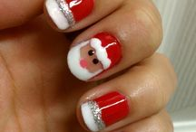 X mas nails art