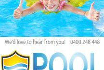 Fun in the backyard pool