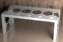 Lace Dining Tables / Metal and Glass Dining tables in many Lace patterns