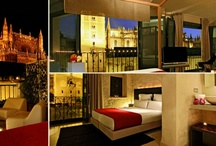 JUNIOR SUITE WITH CATHEDRAL VIEWS / The absolute taste of EME's design, with direct views to the Cathedral, with lounge area.