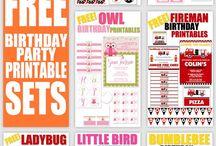 Free printable party set