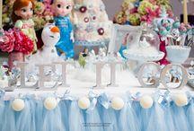 Festa Frozen 5! / decoração de festa tema Frozen