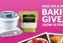 """Bake Like a Pro"" Giveaway! / Check out some of the recipes our followers have made using our products. Vote for your favorite by re-pinning it to your wall! / by Honeyville"