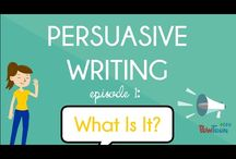Persuasive Writing / Lesson ideas/focuses/acticvities for writing unit