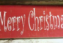 Holiday Signs / Holiday Wood Signs