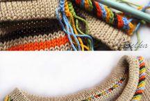 элементы вязания