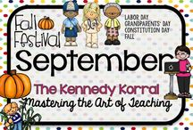 September Teaching Ideas / Fun back-to-school themed activities for kids including school, books, and teachers.  Find exciting science experiments and STEM ideas, too.