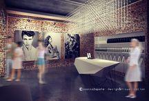Salon fryzjerski / Hair Salon / #hairdresser #arthairstyle #entrance #waitingroom#reception #brick #concretefloor #hairdresserdesign #interiordesign #architecture #visualization #oldbuildings #interiorclimate #moderndesign #3dstudiomax #hairfashion #modernstyle #3Dsculpting — w: Lubelskie, Poland