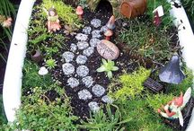 Mini landscape garden