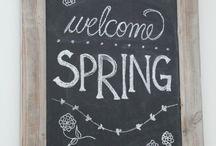 Frühling Kreidetafel