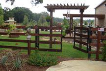 Ranch Rail Fences / Custom ranch rail fence build by Titan Fence & Supply Company.