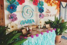Mesa dulce Moana - Vaiana / Mesa Vaiana con flores de papel!!!