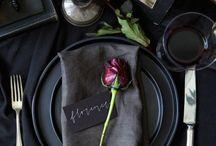 Tischdeko schwarz