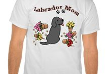Black Labrador Shirts / Funny and cute BlackLabrador Retriever Shirts for Labrador fans!  Labrador artwork by Naomi Ochiai