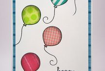 Cards balloons