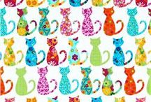 Fabric / I love bright colors, cats, and cute animals. / by Kelli Schoolcraft