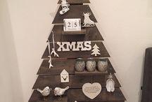 houten kerstboom ideeen