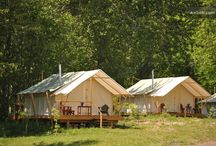 Glamping  / What is glamping? It sounds pretty funky, and it definitely is. Come explore our board of this unique style of adventuring!