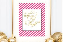 Holiday Art / by Grace and Serendipity - Wedding Planning and Paperie Design
