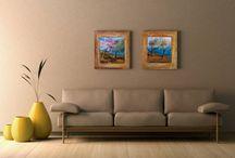 art | paintings on wood / painted on natural wood