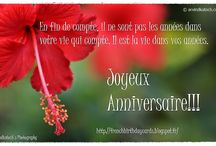 French Birthday Cards (Cartes d'anniversaire française) / Collection of True Picture Based French Birthday Cards. (Collection de True Image Basé Cartes d'anniversaire française.) / by Arvind Katoch