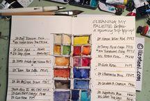 Sketchbooks / Inspiring pages of sketchbooks